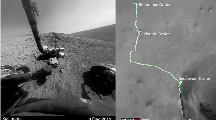Mars Lander Near Endeavour Crater