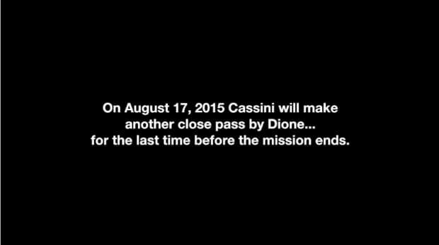 Cassini's Last Visit To Dione